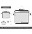 Saucepan line icon vector image vector image