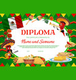 school education diploma chilli peppers vector image vector image