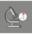 scientist worker research test microscope graphic vector image vector image