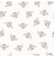 seamless honey bee pattern vector image vector image
