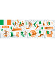 set national flag ireland in vector image vector image