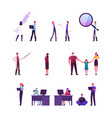 set people scientist research experiment in vector image vector image