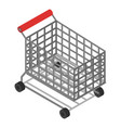 shop cart icon isometric style vector image