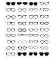 silhouettes eyeglasses vector image vector image