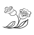Sketch line drawing of flower vector image vector image