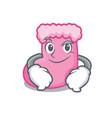 smirking sock character cartoon style vector image
