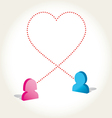 Social networks love icon vector image