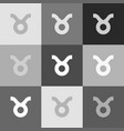 taurus sign grayscale vector image vector image