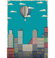Town and air balloon vector | Price: 1 Credit (USD $1)