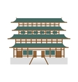 traditional architecture icon Japan culture vector image