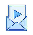 video mail line icon vector image