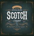 vintage scotch whisky label for bottle vector image vector image
