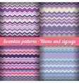 Waves and zigzags - Set of seamless patterns In