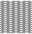 wavy seamless striped pattern simple vector image vector image