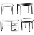 With a set of furniture vector image