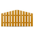 wooden fence vector image