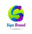 S letter shape logo design template Creative vector image