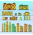 Set of buildings vector image