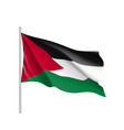 flag of palestine state vector image