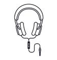 headphones music isolated icon design vector image