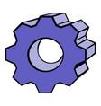 gear icon cartoon vector image