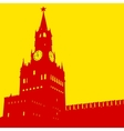 Moscow Russia Kremlin Spasskaya Tower with clock vector image