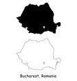 1144 bucharest romania vector image