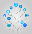Abstract icon tree - technology vector image vector image