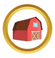 Barn for animals icon vector image