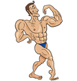 bodybuilder cartoon character vector image vector image