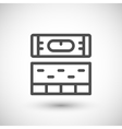 Building level line icon vector image