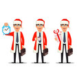 business man in santa claus costume vector image vector image