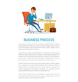 business process businessman talking on phone vector image vector image