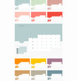 calendar design template for 2019 simple planner vector image vector image