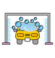 car wash shampoo bubbles automotive service vector image