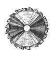 carpentry tool detail circular saw blade vector image