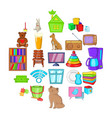 chamber icons set cartoon style vector image vector image