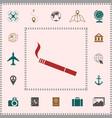 cigarette symbol icon elements for your design vector image