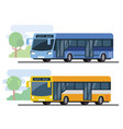 city public bus vector image