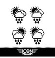 cloud rain sun icon vector image
