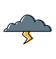 clouds sky weather seasonal lightning climate icon vector image