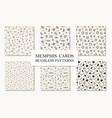 collection of seamless memphis geometric patterns