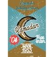 Color vintage ramadan banner vector image vector image