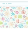 Colorful Doodle Snowflakes Horizontal Torn Frame vector image vector image