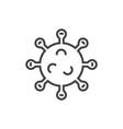 coronavirus icon virus line icons on white vector image vector image