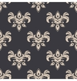 Cream colored seamless floral pattern vector image