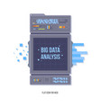 data network management big data machine learning vector image vector image