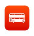double decker bus icon digital red vector image
