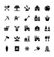 farming glyph icons vector image
