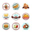 Fast Food Emblems vector image